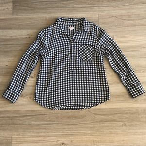 Merona Black and White Checkered Button Up